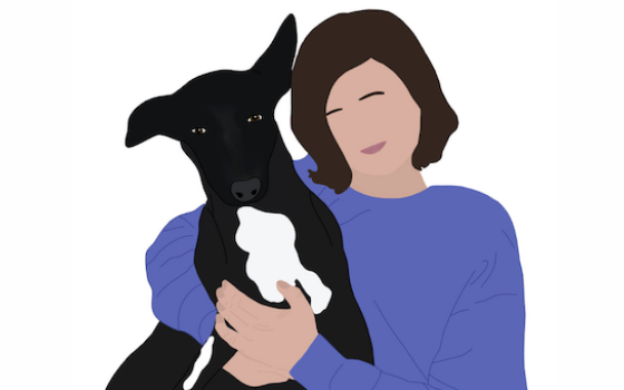 Illustration of Helen Summerfield-Brown from Stray Dog Support