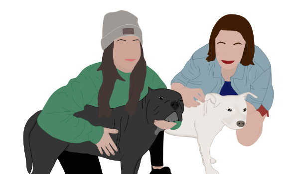 Illustration of Brooke Howell and Malory Skaugen from The Love Pit