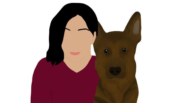 Illustration of Karina from Trina & Friends K9 Rescue
