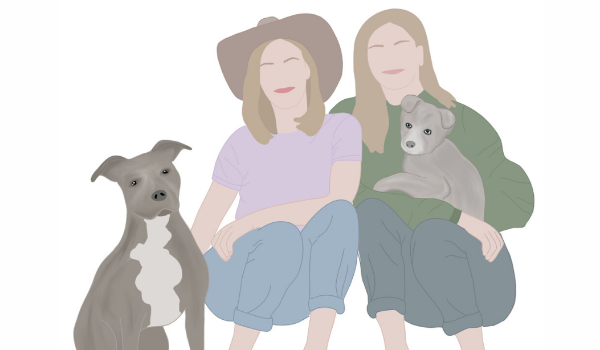 Illustration of Lauren Anton & McKenzie Smith from Saving Hope Animal Rescue