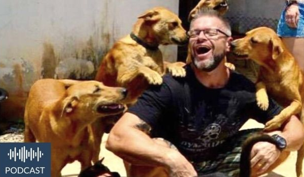 Michael J. Baines of The Man That Rescues Dogs