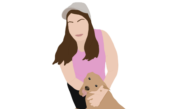 Illustration of Janessa Baar of Roatan Rescue