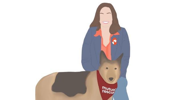 Illustration of Carol Novello of Mutual Rescue