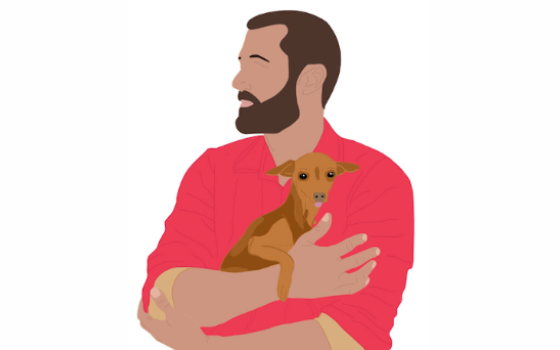 Illustration of Zach Skow from Marley's Mutts