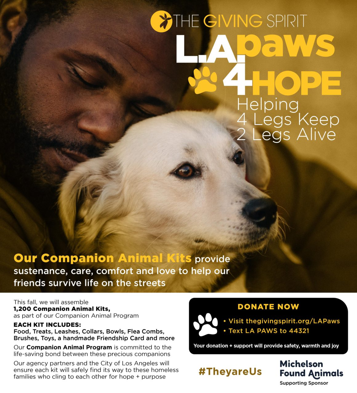 flyer for LA Paws 4 hope