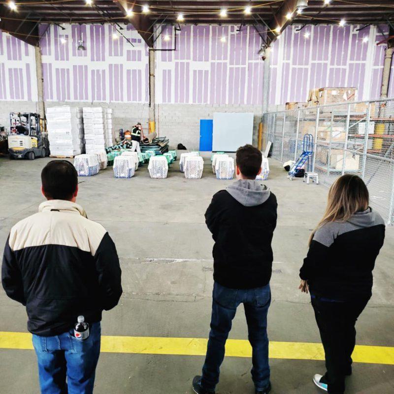 people watching dog crates