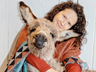 tawnee preisner with donkey