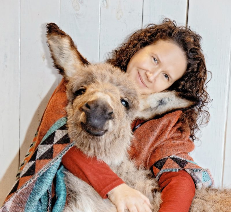 tawnee preisner with donkey