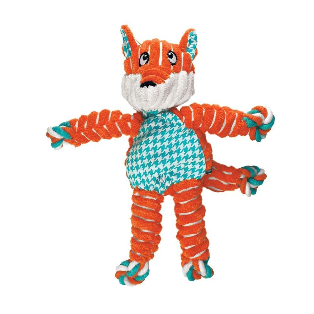 KONG Floppy Knots Fox Dog Toy
