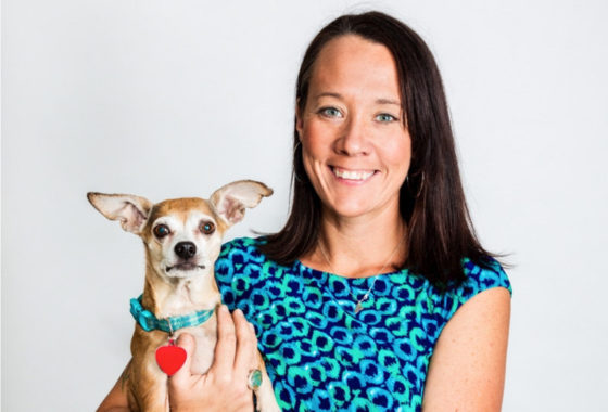 kristen hassan with chihuahua
