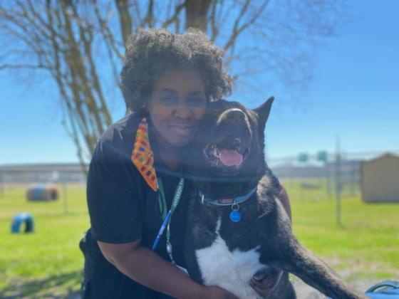 Jennifer Jenkins and dog